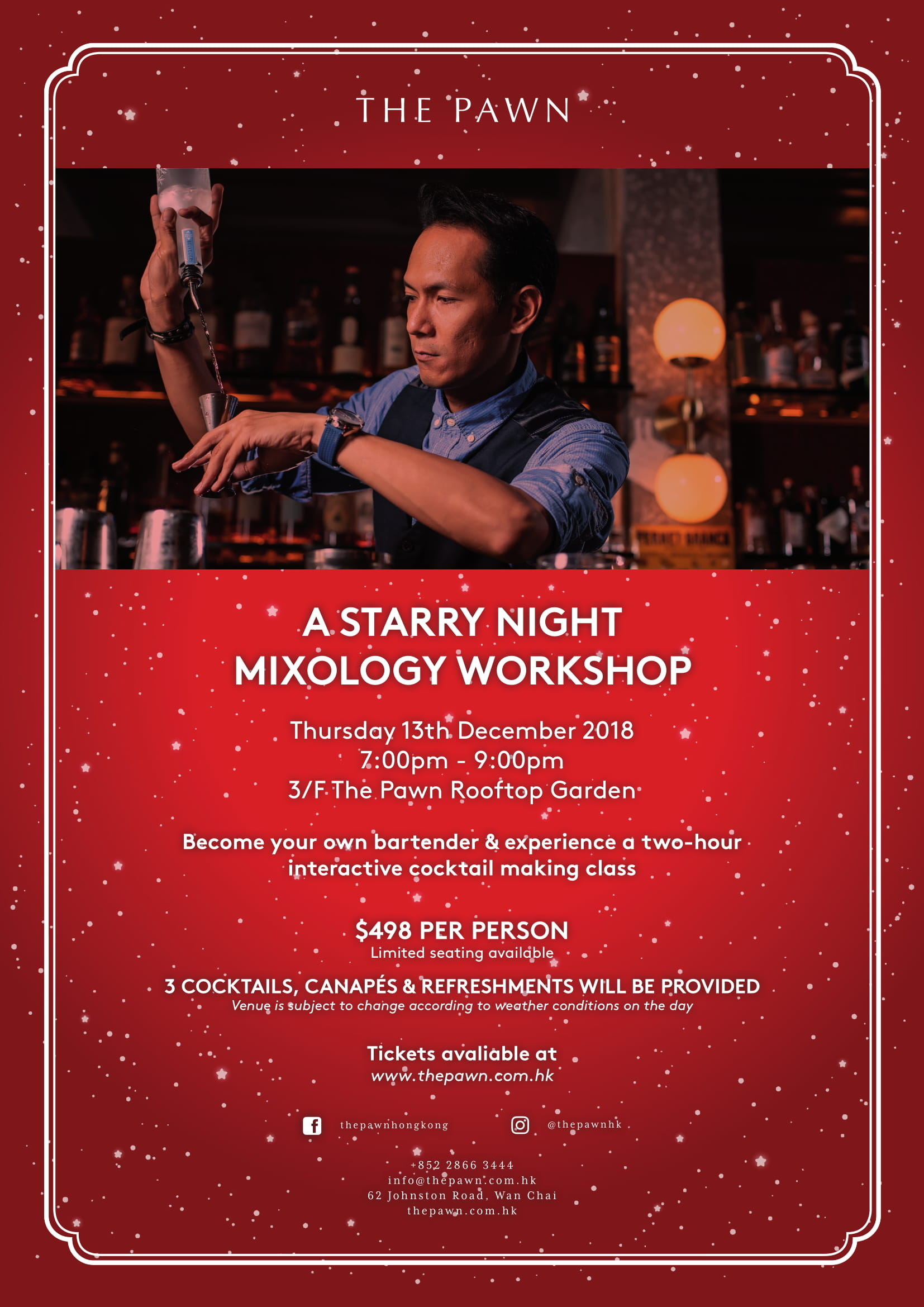 The Pawn Starry Night Mixology Workshop