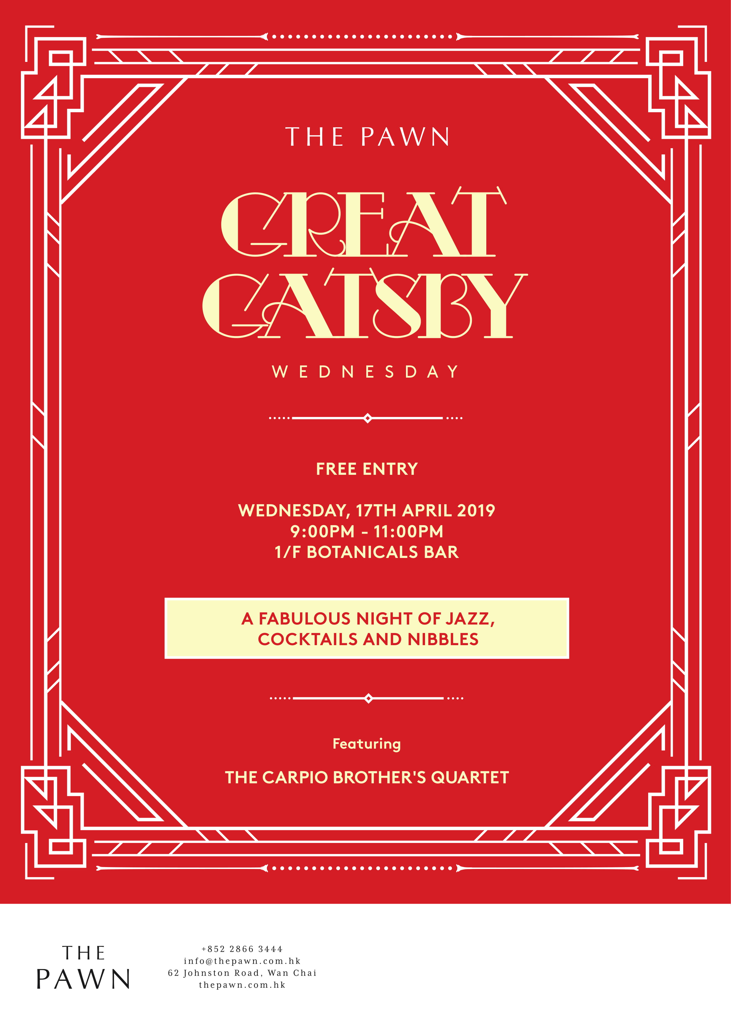 The Pawn Great Gatsby Wednesday